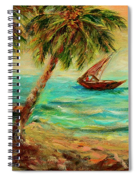 Sail Boats On Indian Ocean  Spiral Notebook