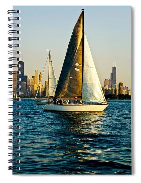 Sailboat In A Lake, Lake Michigan Spiral Notebook