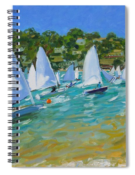 Sailboat Race Spiral Notebook by Andrew Macara