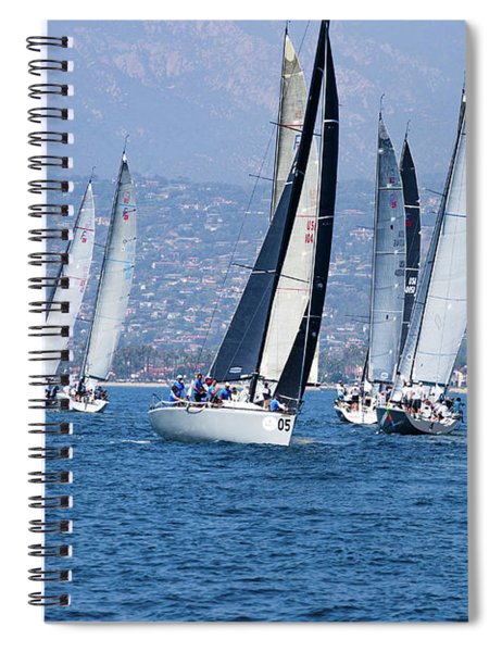 Sailboat Race In The Pacific Ocean Spiral Notebook