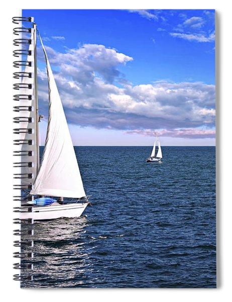 Sailboats At Sea Spiral Notebook