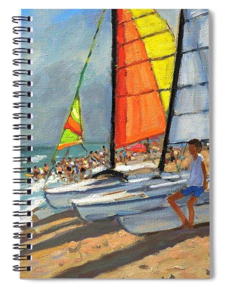 Sailboats Garrucha Spain  Spiral Notebook by Andrew Macara