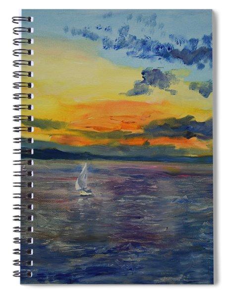 Sailboats Near Stockholm Spiral Notebook