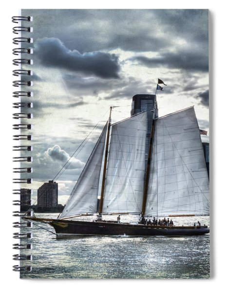 Sailing On The Hudson Spiral Notebook