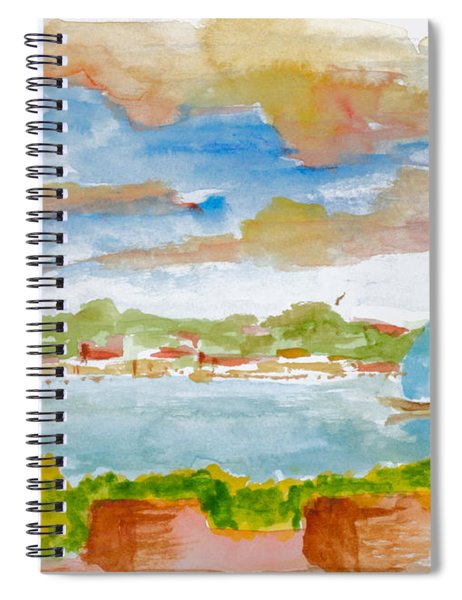 Sailing On The River Spiral Notebook
