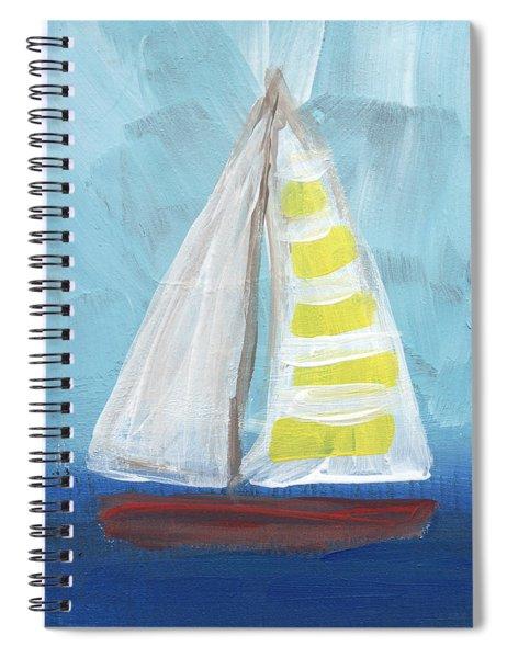 Sailing- Sailboat Painting Spiral Notebook