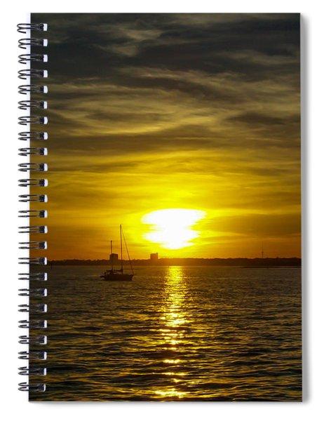 Sailing The Sunset Spiral Notebook