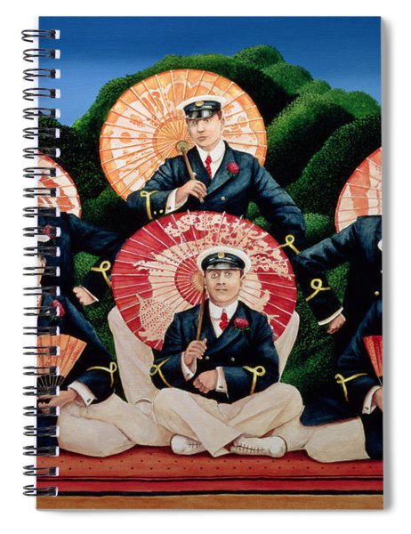 Sailors With Umbrellas Spiral Notebook