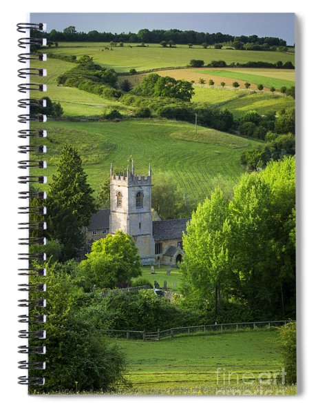 Spiral Notebook featuring the photograph Saint Andrews - Cotswolds by Brian Jannsen