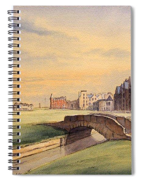 Saint Andrews Golf Course Scotland - 18th Hole Spiral Notebook