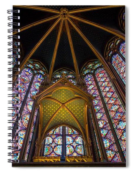 Saint Chapelle Windows Spiral Notebook