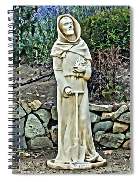 Saint Fiacre Spiral Notebook