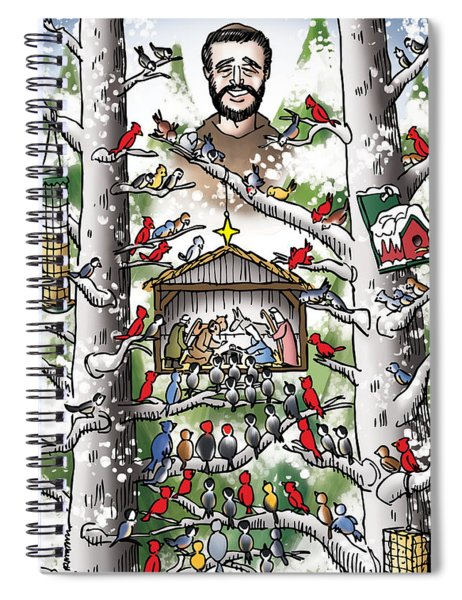 St. Francis And The Birds Spiral Notebook