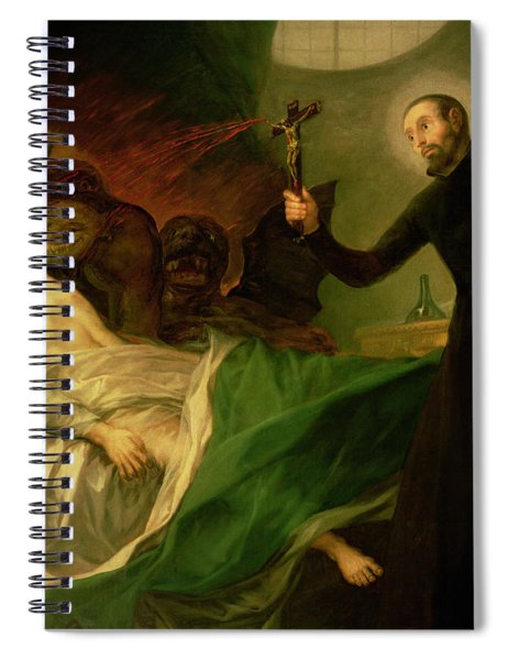 Saint Francis Borgia Helping A Dying Impenitent Spiral Notebook