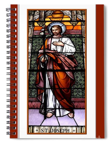 Saint Joseph  Stained Glass Window Spiral Notebook