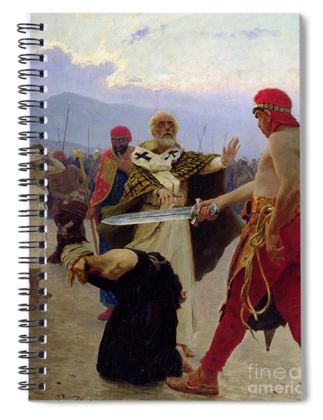 Saint Nicholas Of Myra Saves Three Innocents From Death Spiral Notebook