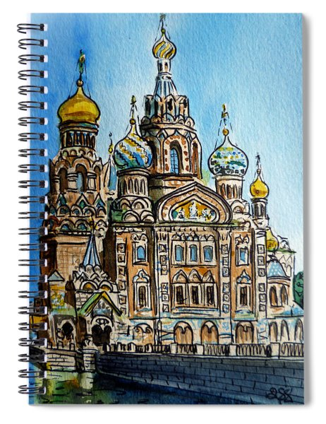 Saint Petersburg Russia The Church Of Our Savior On The Spilled Blood Spiral Notebook
