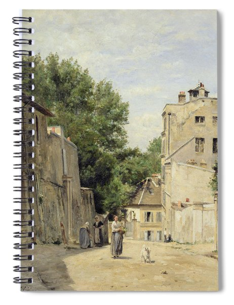 Saint-vincent Street, Montmartre Oil On Canvas Spiral Notebook