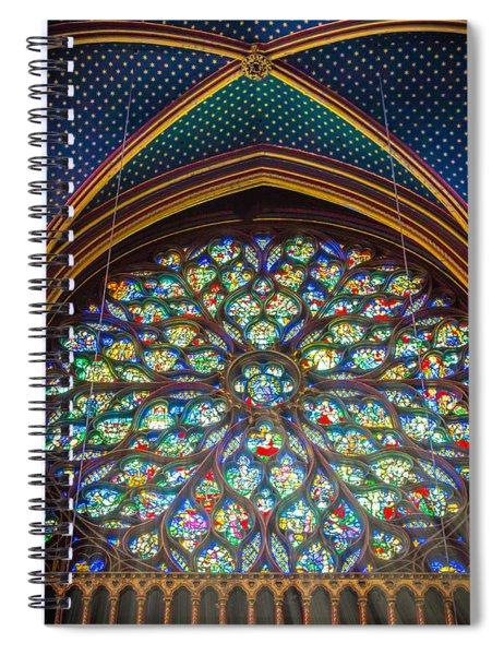 Sainte-chapelle Fenetre Ronde Spiral Notebook