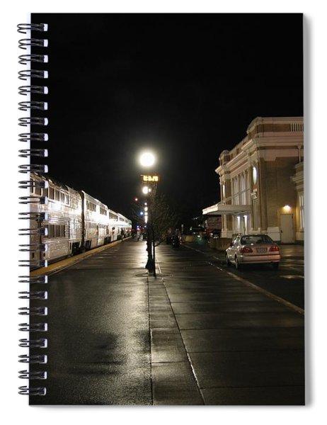 Salem Amtrak Depot At Night Spiral Notebook