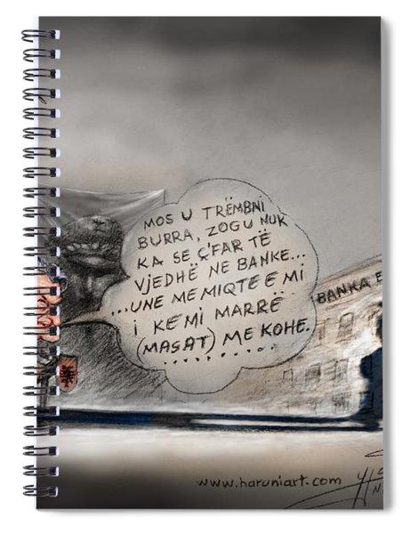 Sali Berisha Per Ahmet Zogun Spiral Notebook