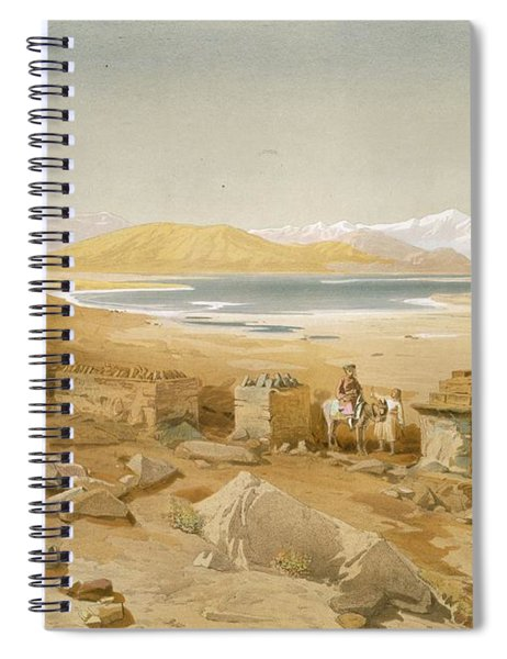 Salt Lake - Thibet, From India Ancient Spiral Notebook