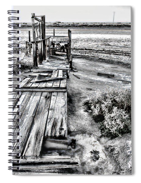 Salton Sea Dock Under Renovation By Diana Sainz Spiral Notebook