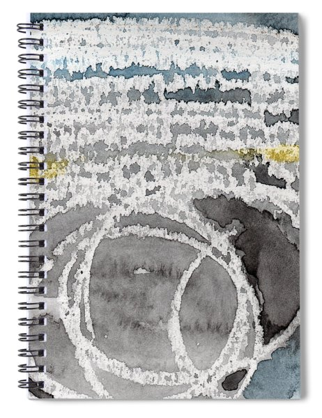 Saltwater- Abstract Painting Spiral Notebook by Linda Woods