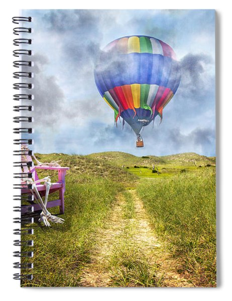 Sam Contemplates Ballooning Spiral Notebook