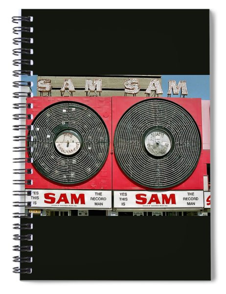 Sam The Record Man Spiral Notebook