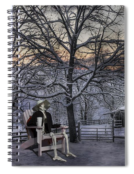 Sam Visits Winter Wonderland Spiral Notebook