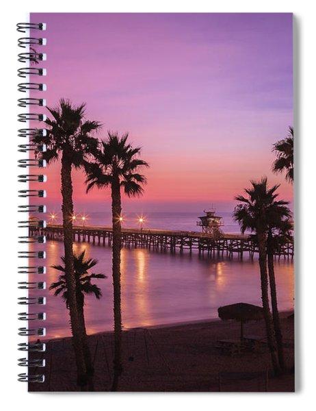 San Clemente Sunset Meditation Spiral Notebook