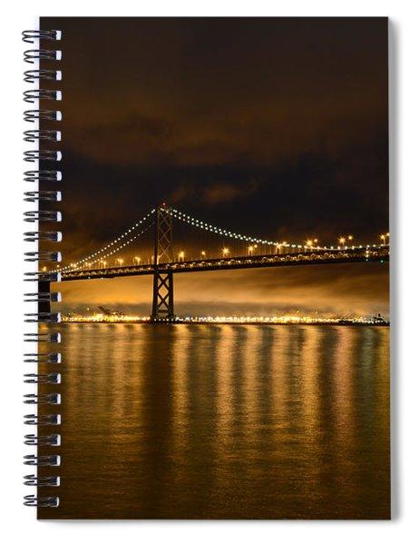 San Francisco - Bay Bridge At Night Spiral Notebook