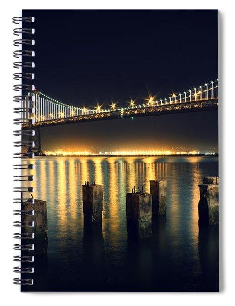 San Francisco Bay Bridge Illuminated Spiral Notebook