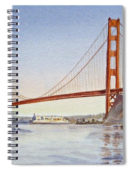San Francisco California Golden Gate Bridge Spiral Notebook