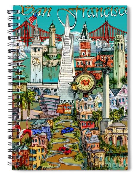 San Francisco Illustration Spiral Notebook