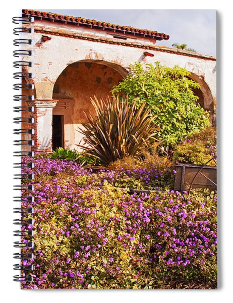 San Juan Capistrano Mission Flower Garden Spiral Notebook