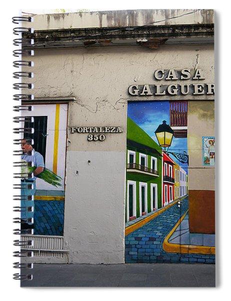 San Juan - Casa Galguera Mural Spiral Notebook