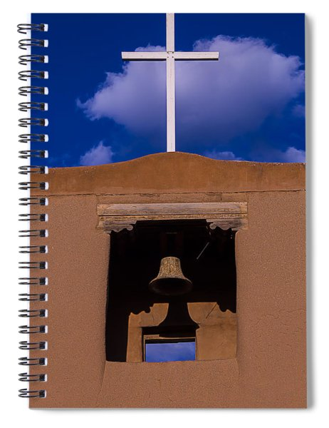 San Miguel Church Bell And Cross Spiral Notebook