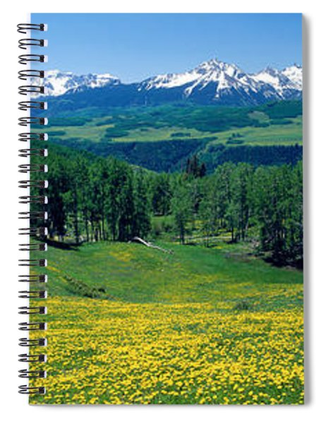 San Miguel Mountains In Spring Spiral Notebook