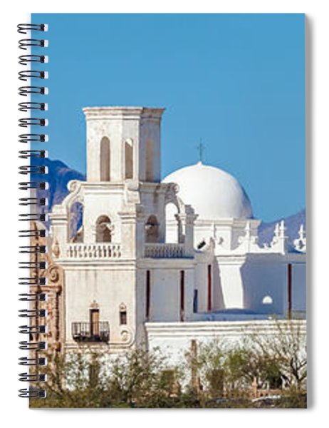 Spiral Notebook featuring the photograph San Xavier Del Bac Mission by Ed Gleichman