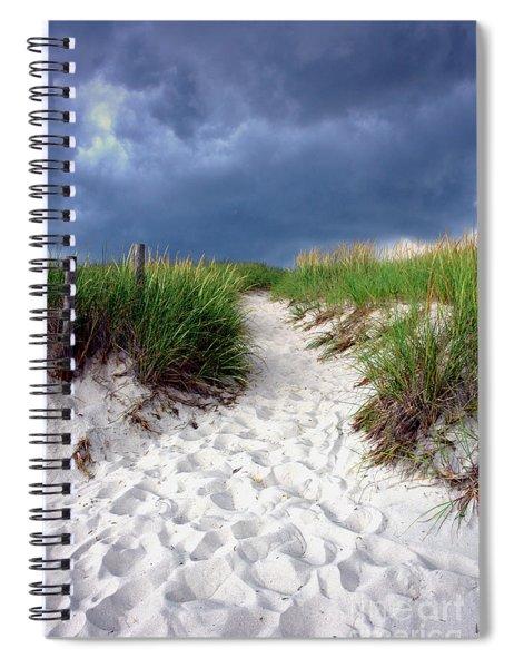 Sand Dune Under Storm Spiral Notebook