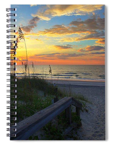 Sand Dunes On The Seashore At Sunrise - Carolina Beach Nc Spiral Notebook