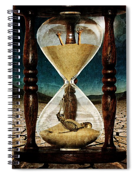 Sands Of Time ... Memento Mori  Spiral Notebook
