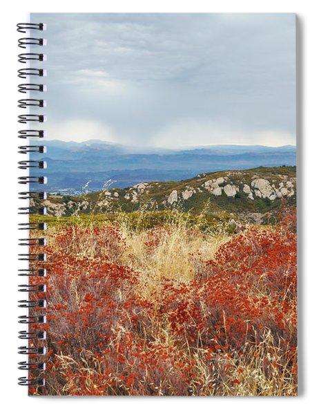 Sandstone Peak Fall Landscape Spiral Notebook
