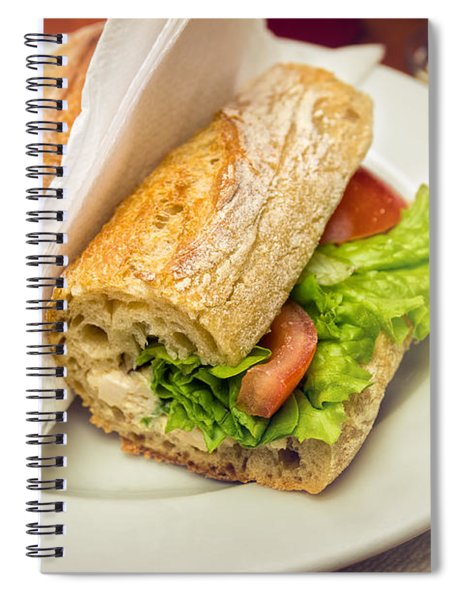 Sandwish On Table Spiral Notebook