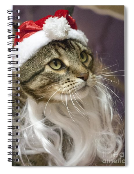 Santa Cat Spiral Notebook