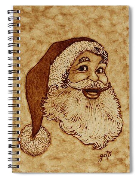 Santa Claus Joyful Face Spiral Notebook by Georgeta  Blanaru