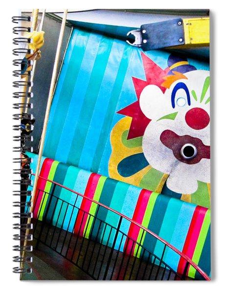 Santa Cruz Boardwalk Carousel Spiral Notebook