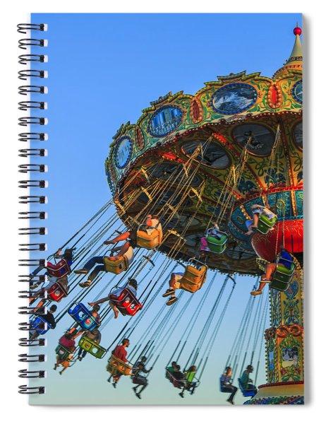 Santa Cruz Seaswing At Sunset 5 Spiral Notebook